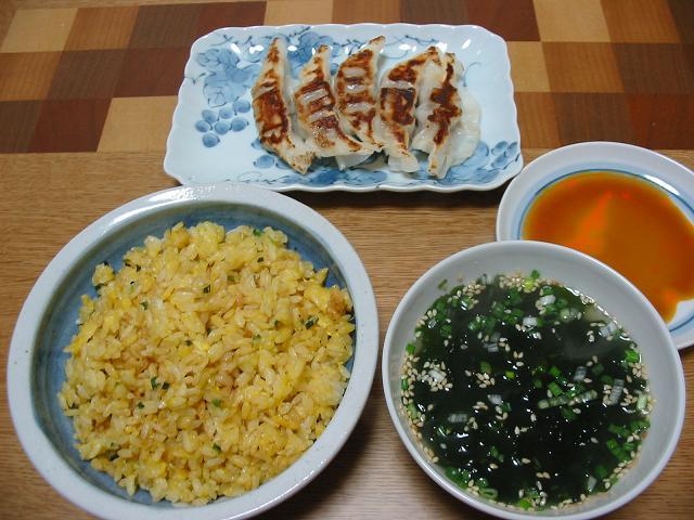 たまご炒飯と餃子