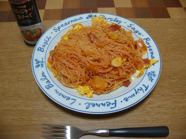 素麺ナポリタン